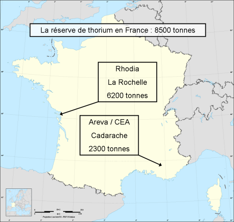 Carte France Thorium