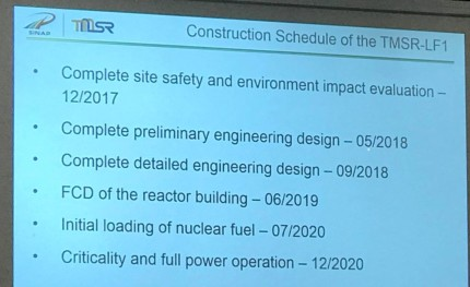 Construction Schedule SAMOFAR meeting
